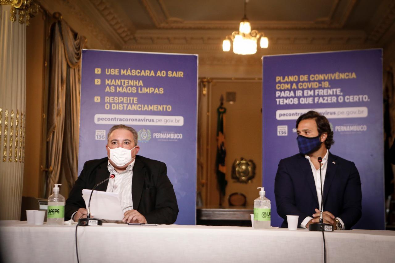 Anúncio da suspensão dos eventos foi feito durante coletiva do governo do estado. (Foto: Heudes Regis/ SEI )