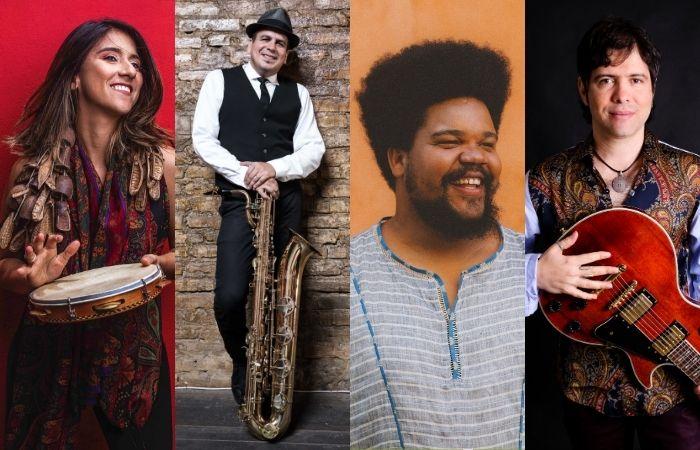 Lara Klaus, Maestro Spok, Amaro Freitas e Luciano magno (Foto: Divulgação)