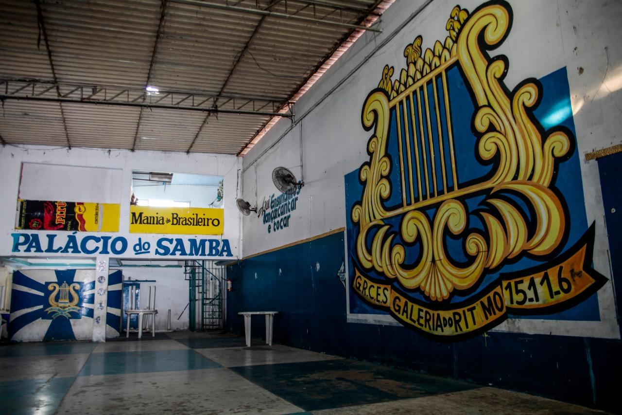 Sede da Galeria do Ritmo não movimenta mais a comunidade do Morro (Foto: Arnaldo Sete/Esp. DP)