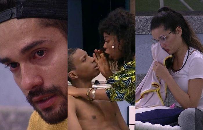 Acrebiano, Lucas Penteado com Lumena e Juliette (Foto: TV Globo/Reprodução)