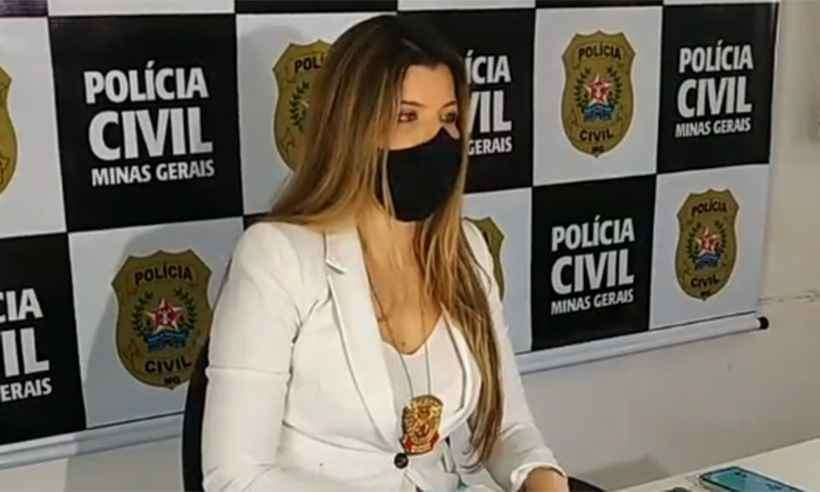 Delegada Nicole Perim em entrevista coletiva sobre o caso (Foto: Reprodução da internet/Instagra/Polícia Civil de Minas Gerais)