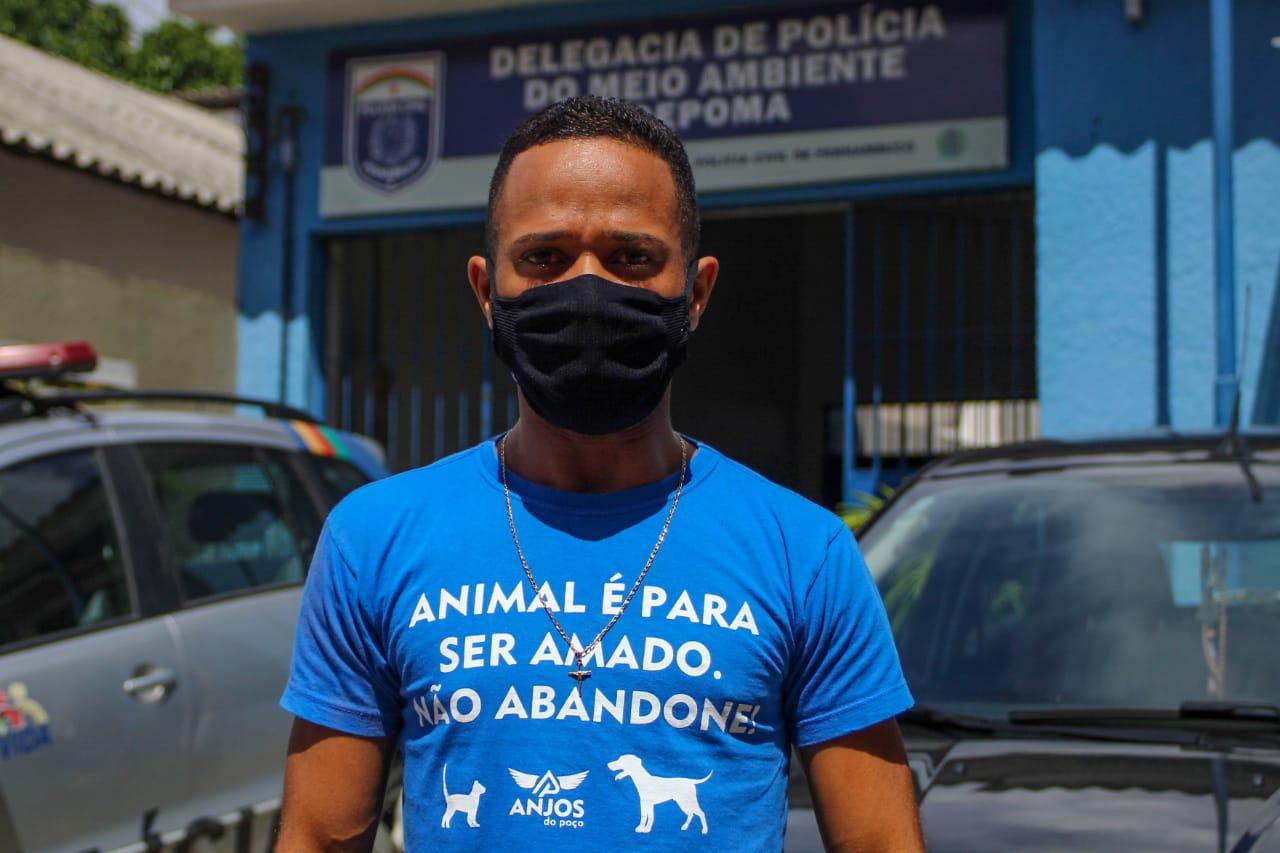 Douglas Brito, integrante da Comissão Nacional de Proteção Animal (Foto: Sandy James/Esp.DP)