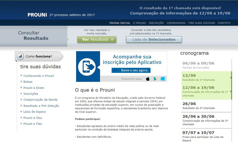 (Mais de 8,5 mil estudantes receberão o benefício referente a janeiro. Foto: Reprodução/Prouni)