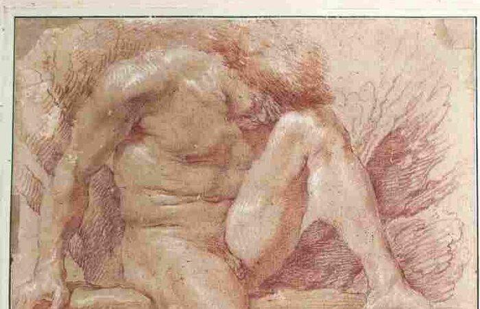 A obra, um desenho feito entre 1630 e 1640, foi leiloada em Compiègne, norte da França, e finalmente vendida neste sábado em uma transação online organizada pela casa de leilões Actéon  (Foto: Acteon.auction / AFP)