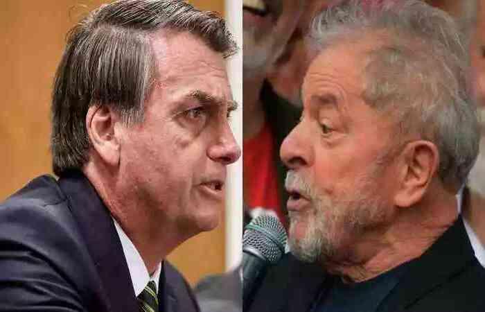 Entrevistados estão divididos entre Bolsonaro e Lula, conforme pesquisa do Instituto Paraná (foto: Marcos Correia/PR - Carl de Souza/AFP)