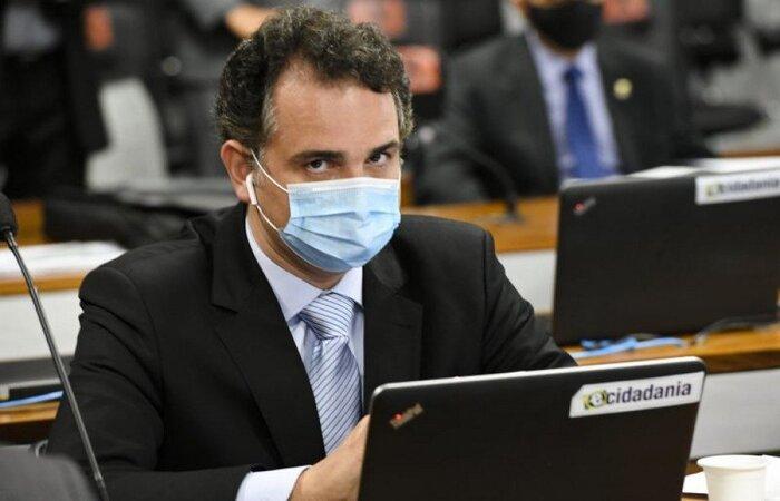 Presidente do Senado participou de videoconferência com governadores para tratar sobre ações de enfrentamento à pandemia. Bolsonaro participou por cerca de 20 minutos  (Foto: Edilson Rodrigues/Agencia Senado)