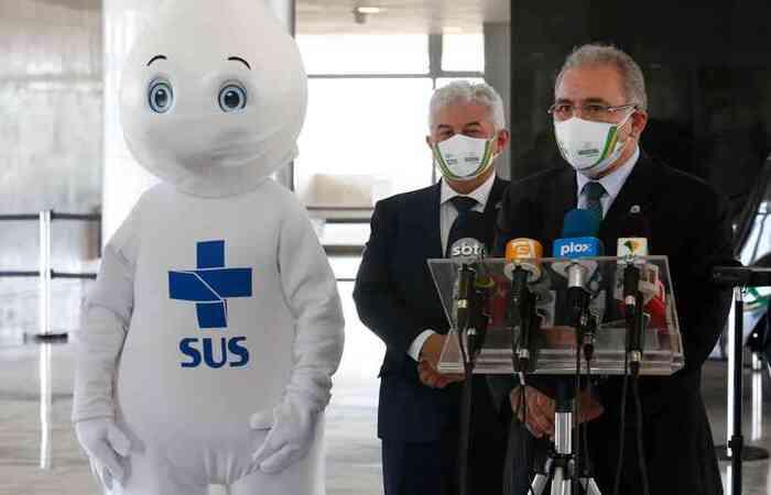 Ministro Marcos Pontes anunciou uma vacina 100% brasileira (Foto: Anderson Riedel/PR)