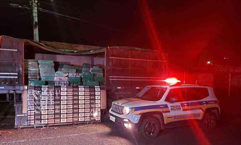 (Droga estava escondida em carga de arroz. Foto: Divulgação/PMMG)