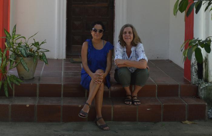 Lia Letícia e Clarice Hoffmann, facilitadoras da oficina (Foto: Divulgação)