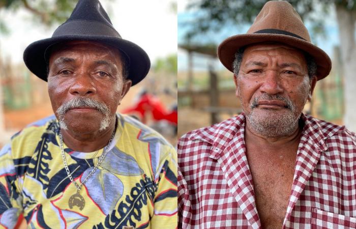 Os mestres Borges Lucas e Reginaldo Cipriano apresentam seus tradicionais cocos de roda (Fotos: Divulgação)