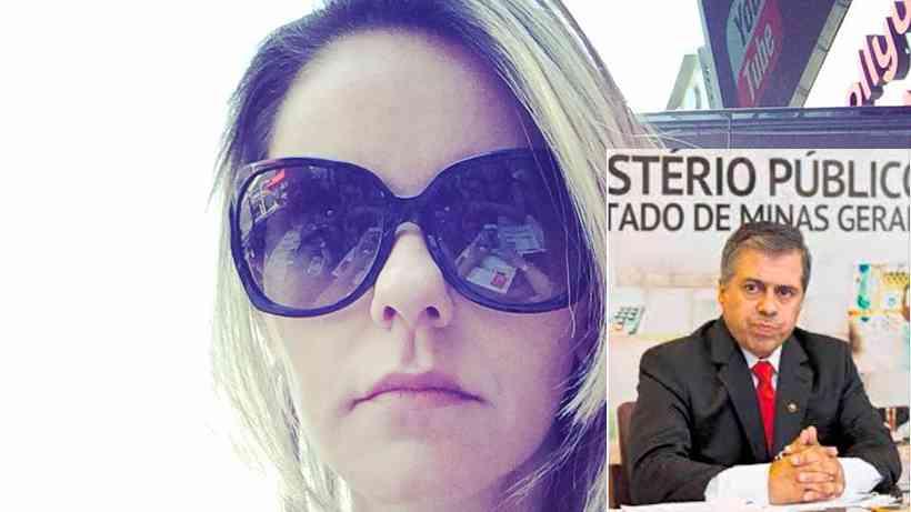 Lorenza morreu na sexta-feira e o marido, promotor André Pinho, foi detido neste domingo  (Foto: Montagem sobre Reprodução/Redes Sociais e Divulgação/MPMG )