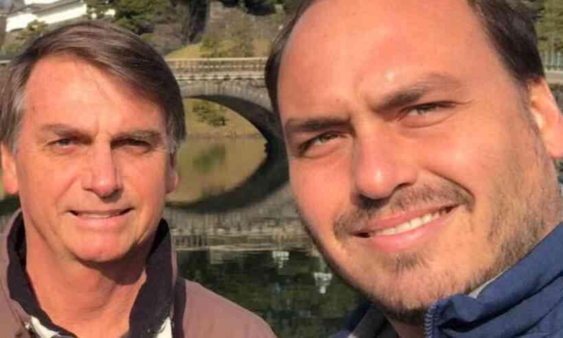 (Na foto anexada ao post, Carlos escreve 'Bolsonaro' no lugar da palavra 'Governo'. Foto: Redes Sociais/Reprodução)