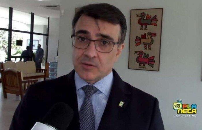 Ministro Carlos França também defendeu diálogo com a comunidade internacional, em discurso, prometendo uma gestão mais moderada e sem ideologismo, diferentemente do ex-ministro Ernesto Araújo (Reprodução/Youtube TV Planeta América Latina)