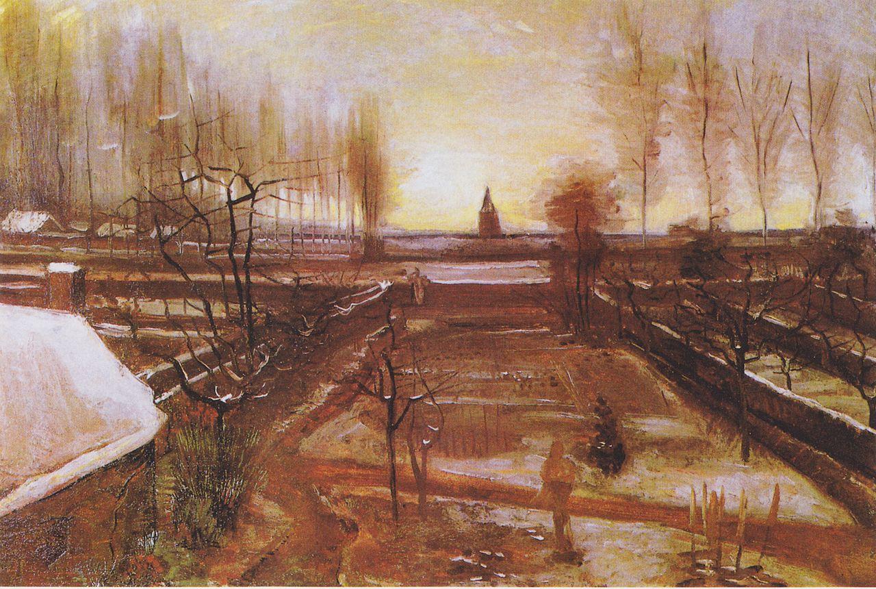 (A obra 'Jardim Paroquial de Nuenen', de Van Gogh, foi roubada em março de 2020. Foto: Reprodução)