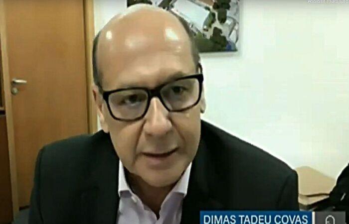 Dimas Covas falou em audiência pública na Comissão Permanente da Covid (Reprodução/Youtube TV Senado)