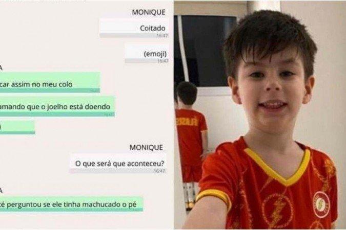 (De acordo com a investigação, Thayná de Oliveira mentiu na primeira declaração à polícia, quando não relatou as mensagens trocadas com a mãe de Henry. Foto: Reprodução)