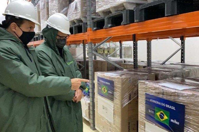 (Com a nova remessa, o instituto soma 39,7 milhões de doses da CoronaVac incorporadas ao Programa Nacional de Imunização (PNI). Foto: Governo do Estado de São Paulo/Divulgação)
