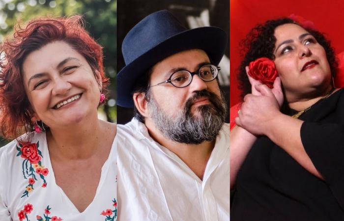 A programação conta com a presença de Cida Pedrosa, Jorge Filó e Susana Morais (Foto: Andréa Rêgo Barros/Divulgação, Jan Ribeiro/Divulgação e Divulgação )