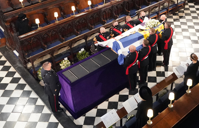 O funeral acontece na Capela de São Jorge no Castelo de Windsor, residência real no oeste de Londres (Dominic Lipinski / POOL / AFP)