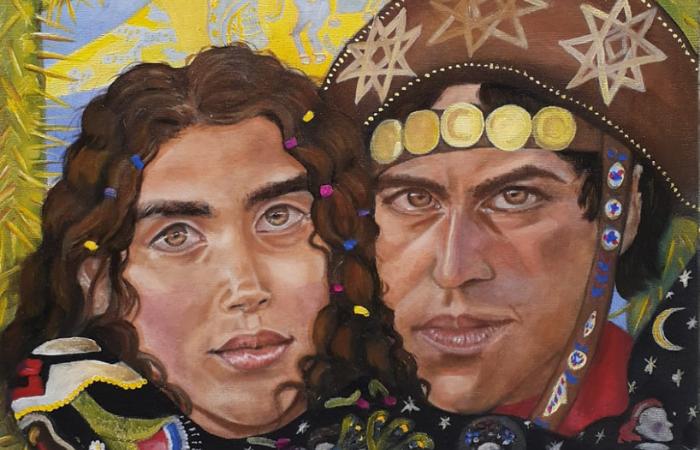 De cores vivas e quentes, as telas de Deborah  Torres se cruzam com a afetividade e a memória dos trabalhos de Eliane Trummer (Foto: Deborah Torres/Divulgação)