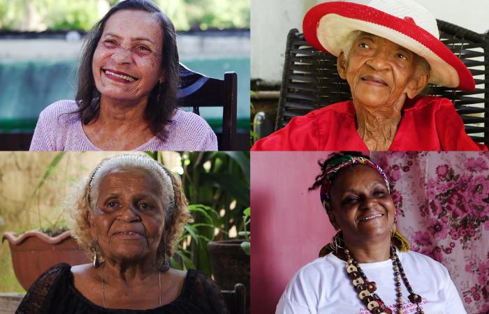 Dona Ana Lúcia, Dona Glorinha, Dona Cila e Dona Célia aprenderam com os pais a paixão pelo coco e seguem lutando pela valorização e preservação da cultura popular (Foto: Ladjane Rameh/Divulgação)