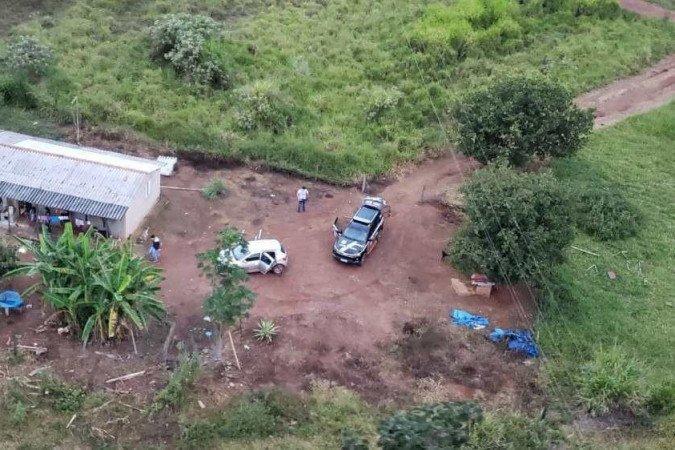 (O casal foi preso em uma casa localizada no interior de uma fazenda, na zona rural de São Sebastião. Foto: PCDF/Divulgação)