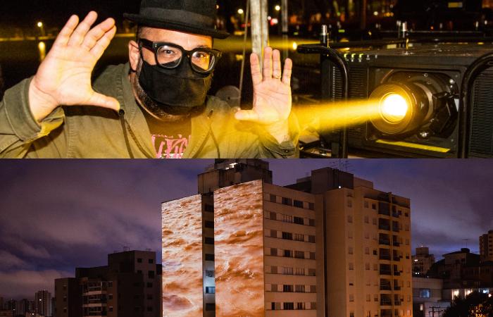 Moazart Santos (acima) e Transborda, obra de Roberta Carvalho (abaixo) (Foto: Bia Ferrer/Divulgação)