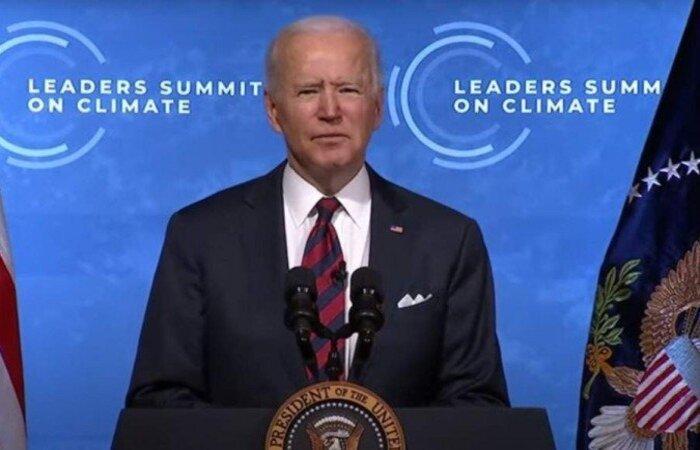 Em discurso de encerramento da Cúpula de Líderes sobre o Clima nesta sexta-feira (23/4), presidente dos EUA afirma que compromissos feitos precisam se tornar realidade  (crédito: Reprodução/YouTube)
