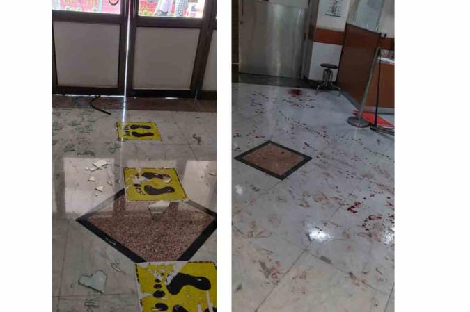 (Emergência do hospital Apollo precisou ser interditada por duas horas após confusão. Foto: Reprodução/Zee News)