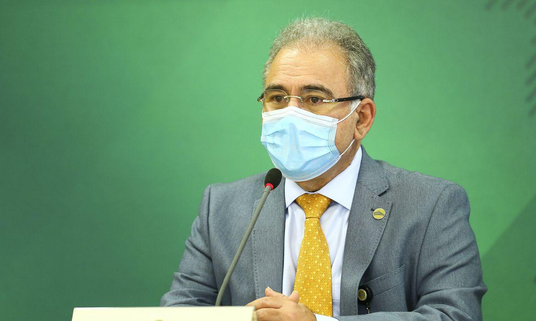 (Anúncio foi feito pelo ministro da Saúde, Marcelo Queiroga. Foto: Marcelo Camargo/Agência Brasil)