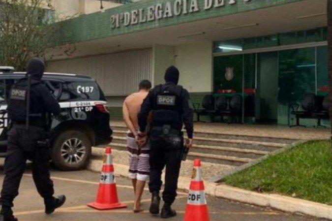 (Membro do PCC estava escondido em um apartamento no Recanto das Emas. Foto: Seape/Divulgação)