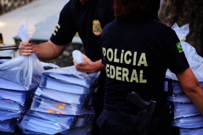 Os agentes cumprem, ao todo, 15 mandados de prisão e 70 de busca e apreensão no Ceará, São Paulo, Rio de Janeiro e Distrito Federal. (Foto: Divulgação/ Polícia Federal)