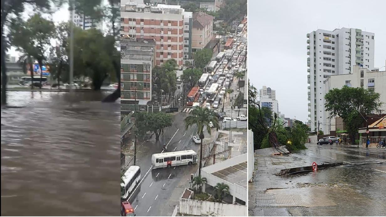 Avenida Agamenon Magalhães, Avenida Conselheiro Aguiar. (Mídias sociais/Reprodução/Montagem DP)