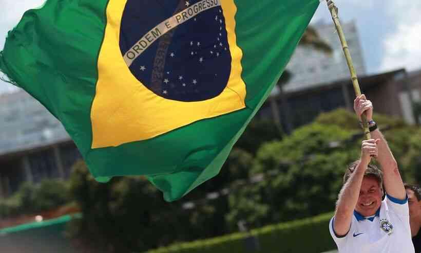 Bolsonaro em manifestação de março/2021 (Foto: Agência Brasil)