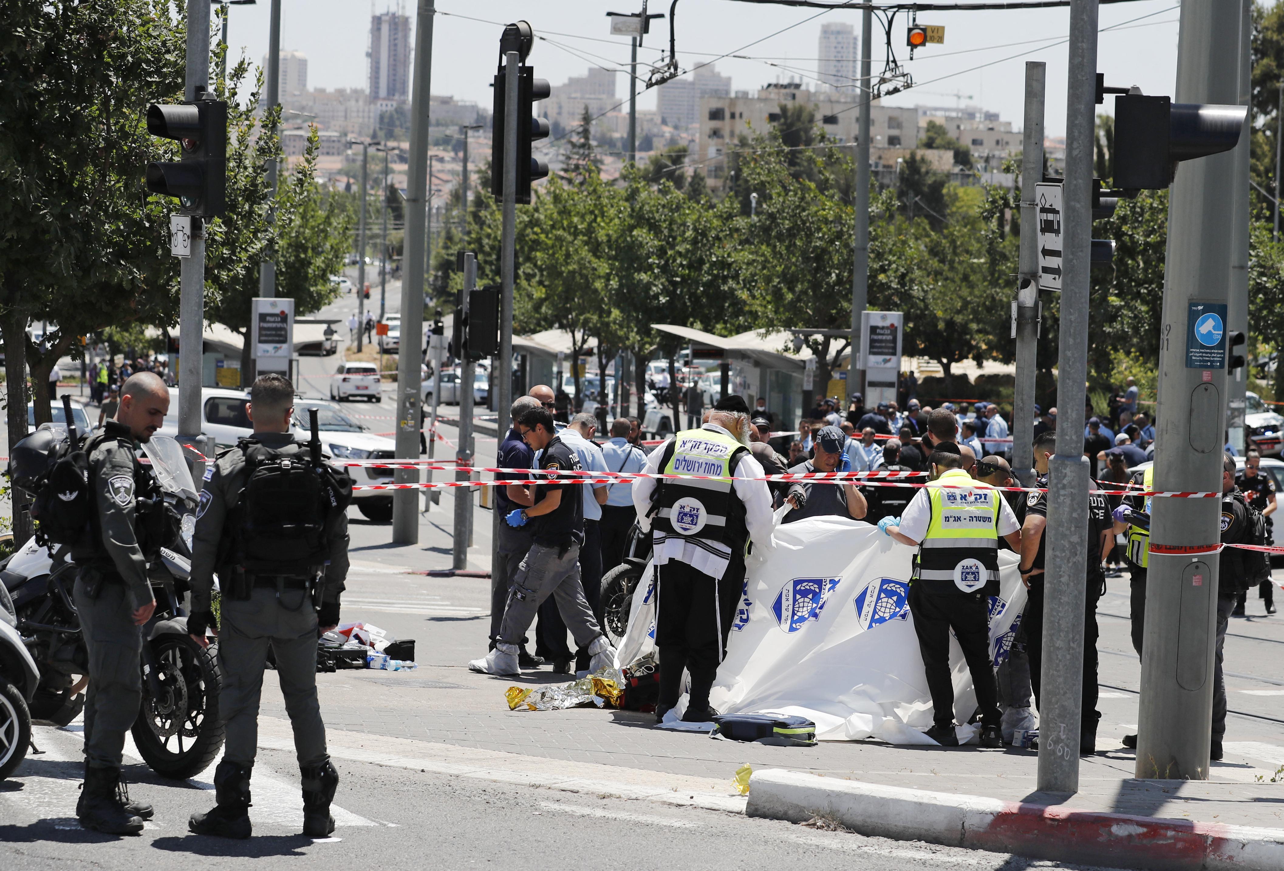 (O ataque aconteceu perto da fronteira entre o setor palestino de Jerusalém Oriental, ocupado por Israel, e o restante da cidade. Foto: Ahmad GHARABLI / AFP )