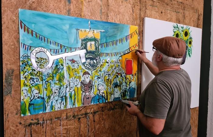 Com a não-realização da festividade, Aluizio Camara resolveu transformar a saudade em telas coloridas  (Foto: Divulgação)