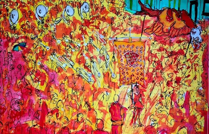 A troça Eu Acho é Pouco é uma das homenageadas pelo artista plástico (Foto: Divulgação)
