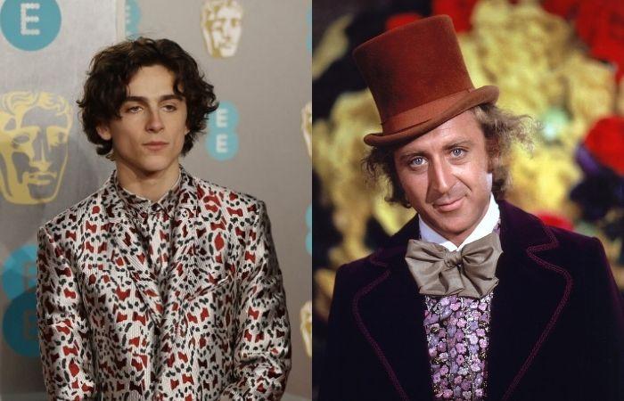 O filme trará o jovem Willy Wonka e a origem da famosa fábrica (Foto: Tolga Akmen/AFP e Paramout Pictures/Reprodução)