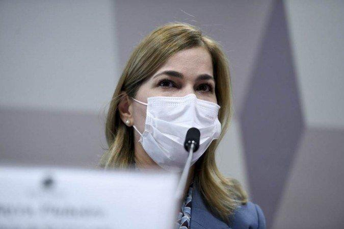 """Conhecida como """"Capitã Cloroquina"""", secretária da pasta voltou a defender a adoção de medicamentos sem eficácia em pacientes infectados pela Covid-19  (crédito: Edilson Rodrigues/Agência Senado )"""
