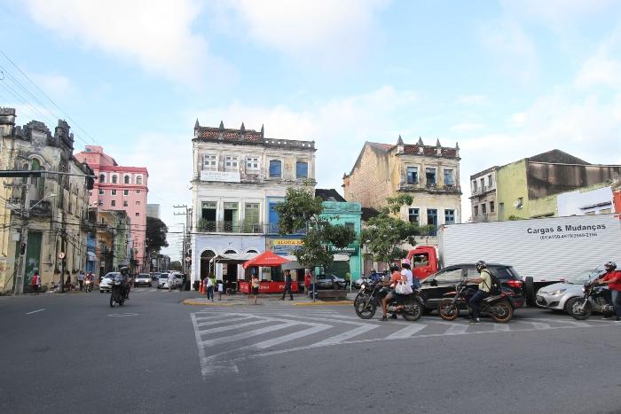 Pátio de Santa Cruz, na Boa Vista (Foto: Nando Chiappetta/DP)