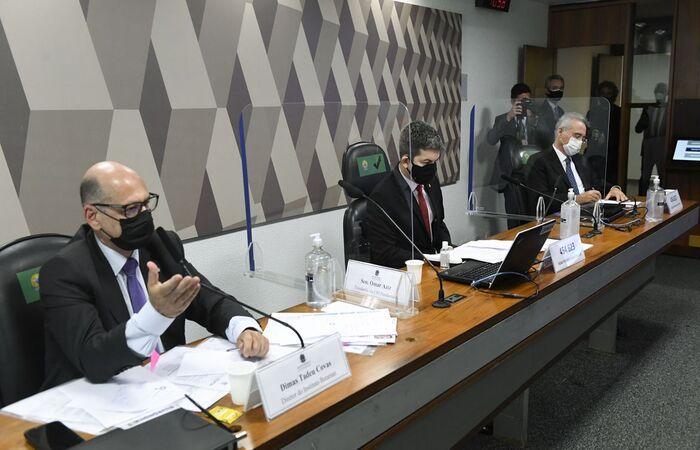 Diretor do Butantan fala aos senadores da CPI da Pandemia  (Jefferson Rudy/Agência Senado)