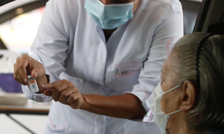 (Meta era imunizar 40% do público alvo com a primeira dose da vacina. Foto: Tânia Rego/Agência Brasil )