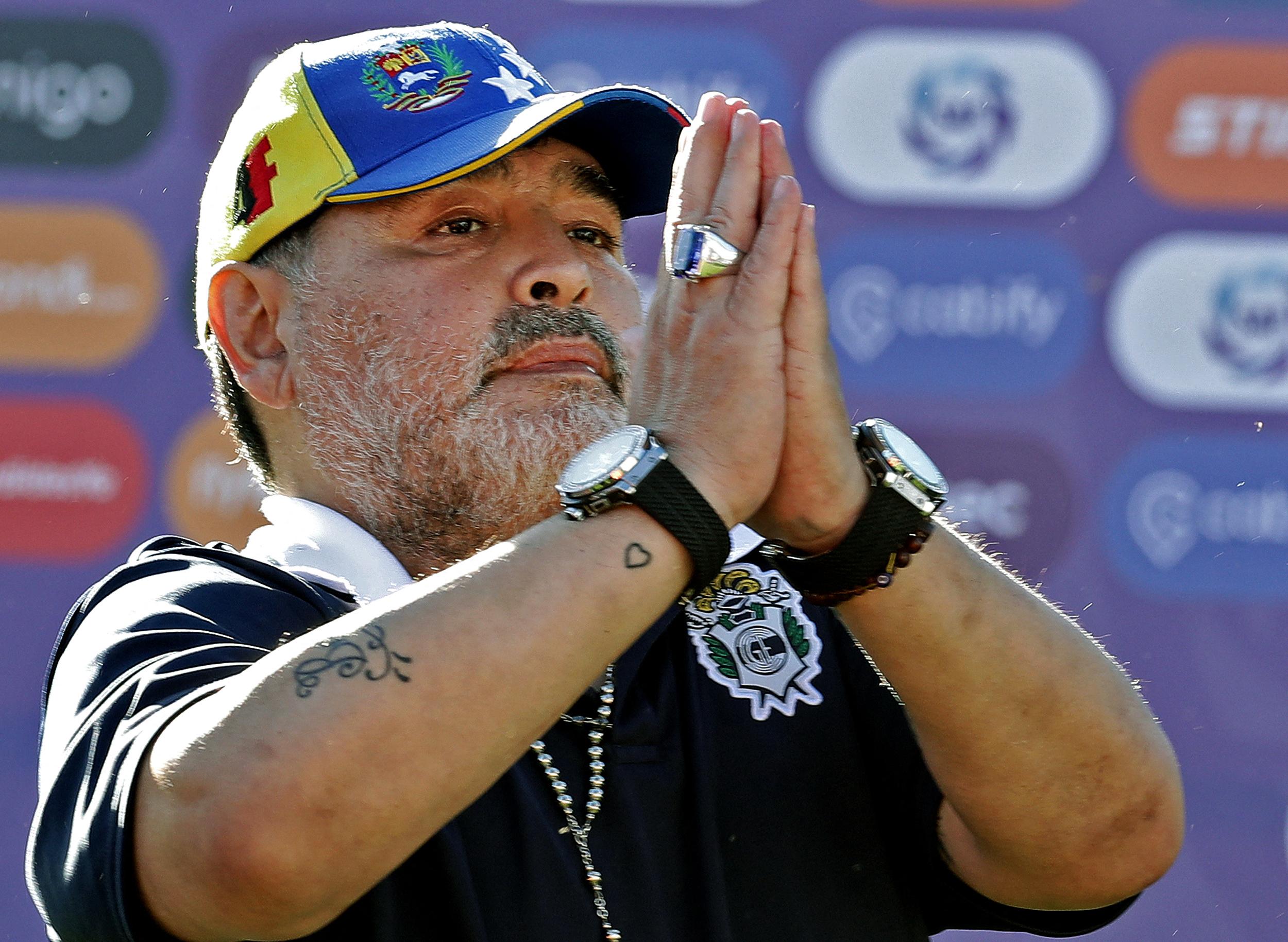 (Maradona morreu em 25 de novembro de 2020 durante sua convalescença em uma casa nos arredores de Buenos Aires, após uma cirurgia bem-sucedida na cabeça para remover um hematoma. Foto: ALEJANDRO PAGNI / AFP)