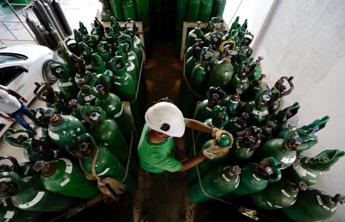 Estão à disposição dos municípios, de forma emergencial, 30 mil metros cúbicos de oxigênio   (Foto: Heudes Régis/SEI)