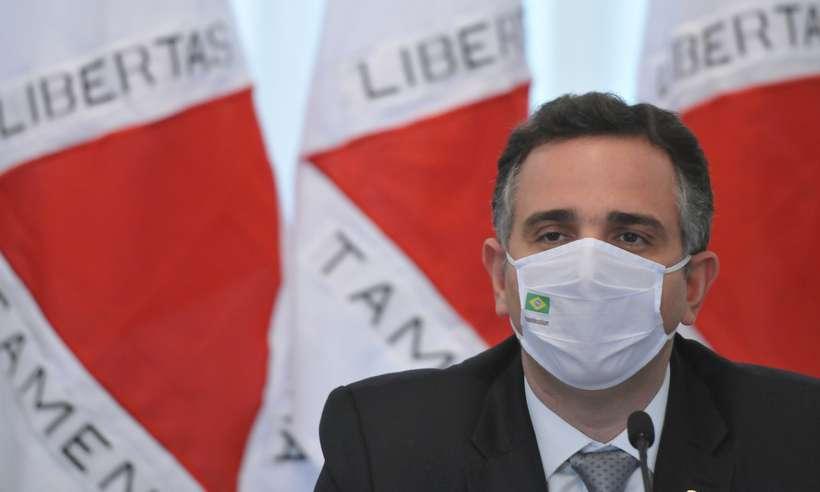 (Presidente do Senado Federal, Rodrigo Pacheco (DEM-MG). Foto: Alexandre Guzanshe/EM/D.A Press)