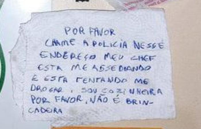 Caso ocorreu neste fim de semana em Chapecó, Santa Catarina. Guarda Municipal foi acionada por casal que recebeu a denúncia junto a um lanche por delivery  (foto: Guarda Municipal de Chapecó/Reprodução )