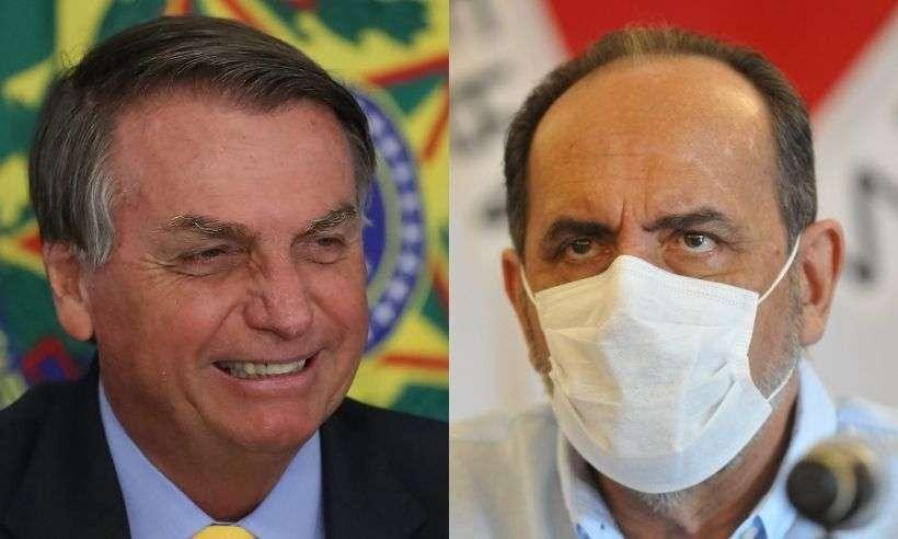 (Presidente Jair Bolsonaro (sem partido) e prefeito de Belo Horizonte, Alexandre Kalil (PSD). Foto: Agência Brasil/Gladyston Rodrigues/EM/D.A Press)