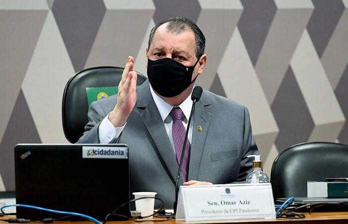 Presidente da CPI da COVID no Senado citou o ex-participante do reality para acalmar os ânimos  (Foto: Agência Senado)