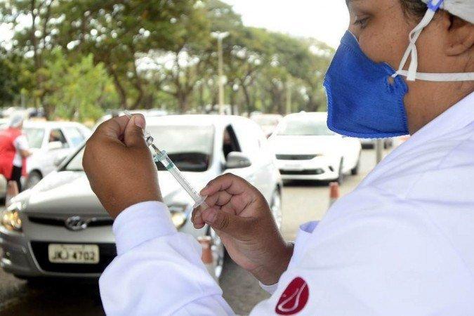 (Quem recebeu vacina com menos de duas semanas de intervalo, terá de receber o reforço. Foto: Marcelo Ferreira/CB/D.A Press)