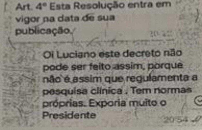 Troca de mensagem entre Nise e Luciano Azevedo (crédito: divulgação)